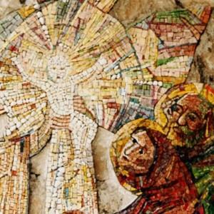 Presentazione al tempio, 1998, mosaico, Nevegal (BL), Santuario Maria Immacolata.