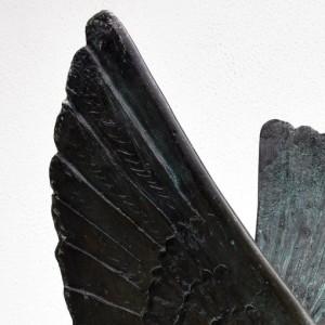 Pegaso bifronte - 1990 - bronzo - h. cm 55