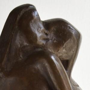 2. Il bacio - 1989 - bronzo - h. cm 39