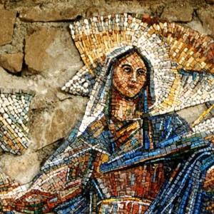 Assunzione, mosaico, Nevegal (BL), Santuario Maria Immacolata.